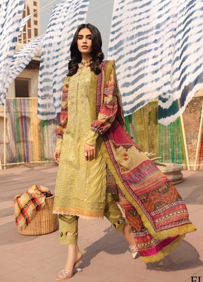 Florent Embroidered Lawn Suits Unstitched 3 Piece F21SS 2B - Luxury Collection