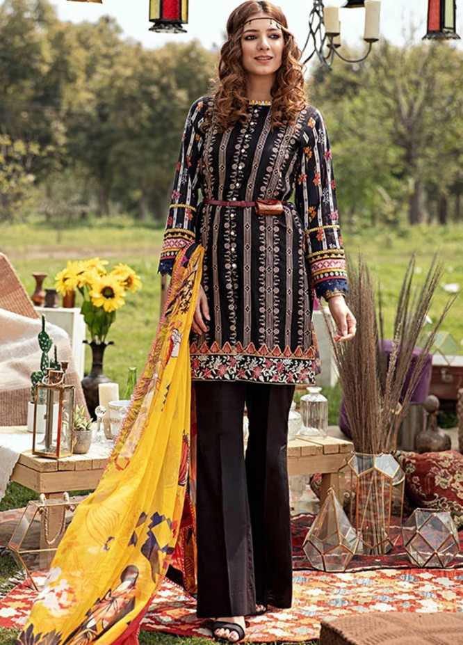 Florent Embroidered Lawn Suits Unstitched 3 Piece F21SV FL-04 - Summer Collection