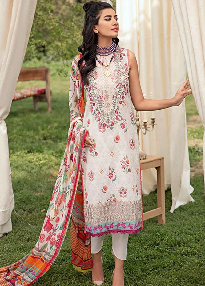 Florent Embroidered Lawn Suits Unstitched 3 Piece F21SV FL-09 - Summer Collection