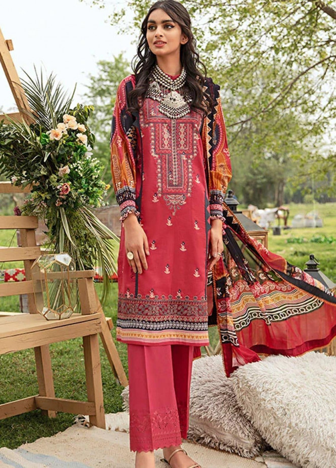 Florent Embroidered Lawn Suits Unstitched 3 Piece F21SV FL-13 - Summer Collection