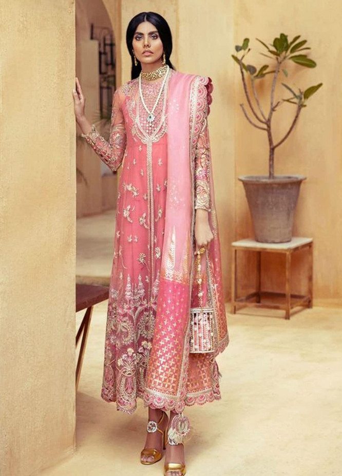 Freeshia by Suffuse Embroidered Organza Unstitched 3 Piece Suit FRS20WD Celeste - Wedding Collection