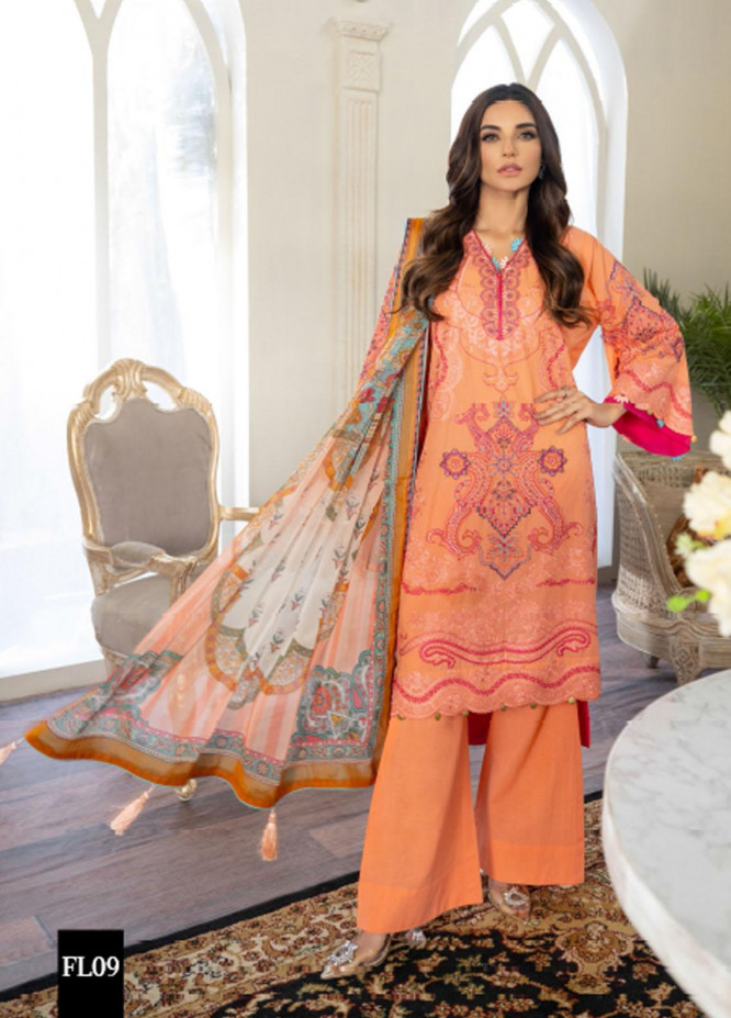 Freesia by Maryum N Maria Embroidered Lawn Suits Unstitched 3 Piece FMM21L 09 Glareity - Luxury Collection