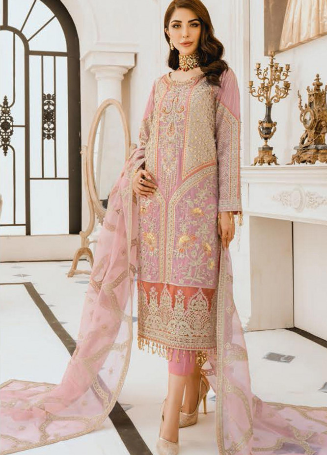 Freesia by Maryum N Maria Embroidered Missouri Unstitched 3 Piece Suit FMM20PC 01 Peachmile - Premium Collection