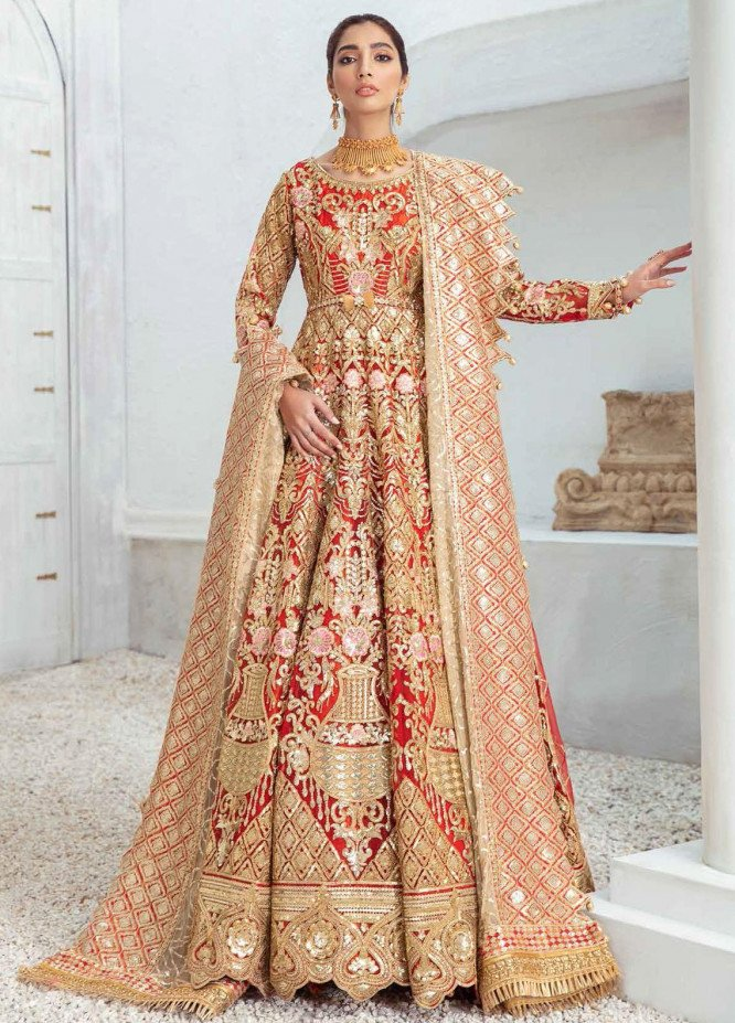 Freesia by Maryum N Maria Embroidered Organza Suits Unstitched 3 Piece MNM21WD 02 Loving touch - Wedding Collection