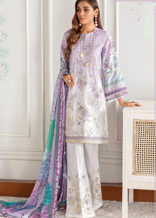 Fuchsia by Baroque Embroidered Lawn Suits Unstitched 3 Piece BQ21F 07 Wurud - Summer Collection