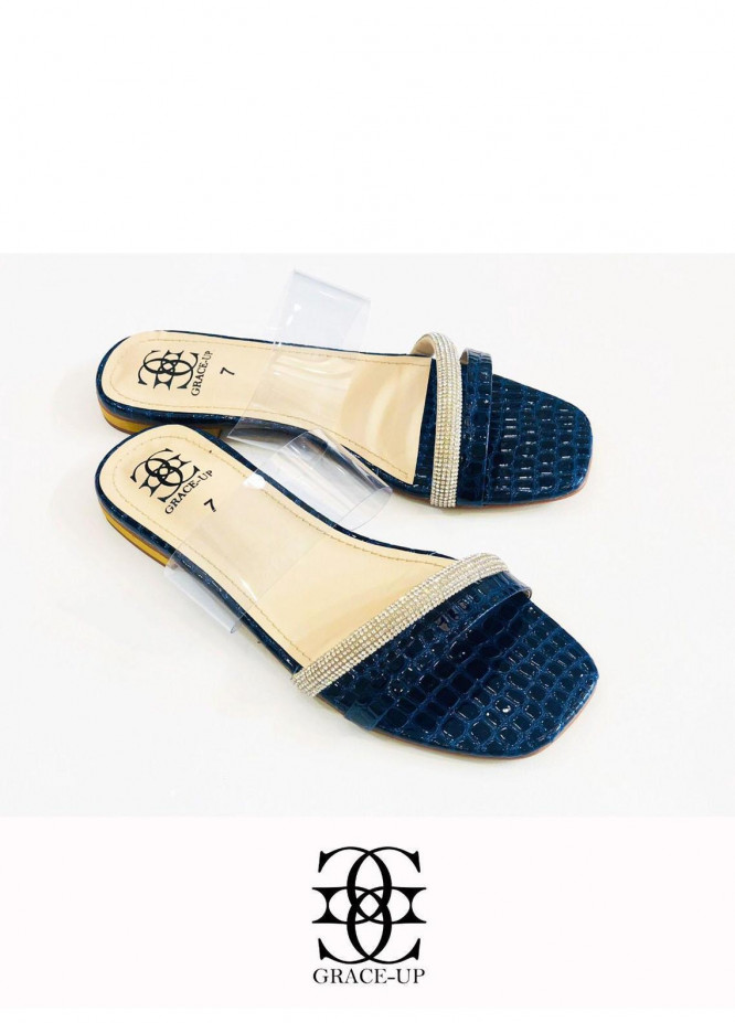 Grace Up Shoes Casual Style  Flats  O638 BLUE