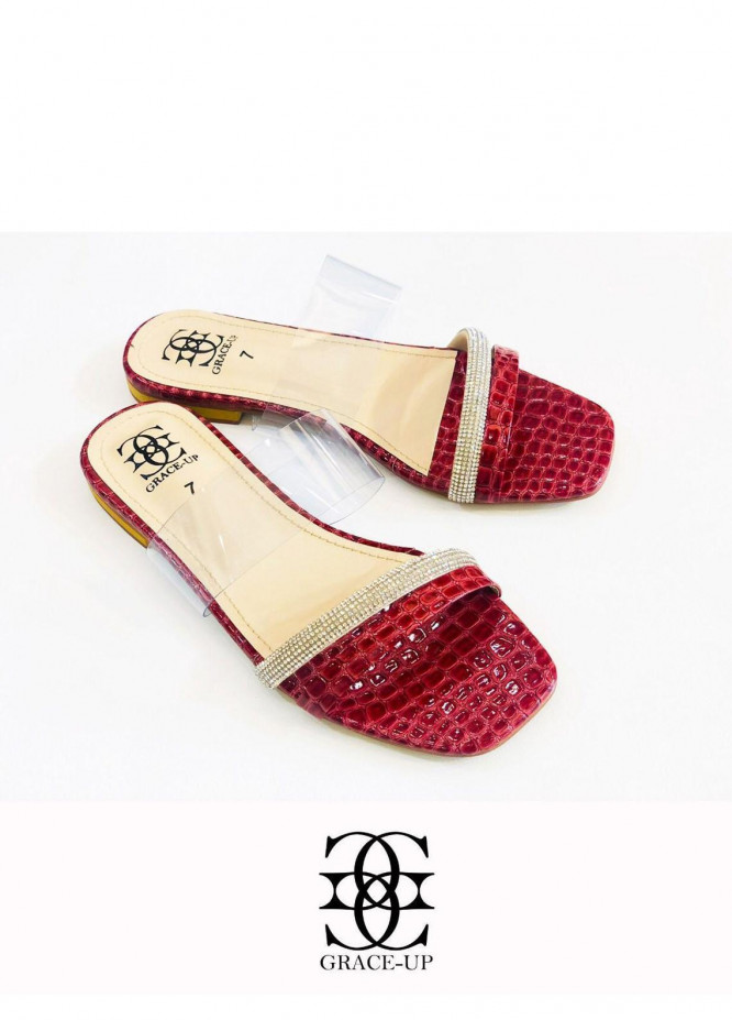 Grace Up Shoes Casual Style  Flats  O638 MAROON
