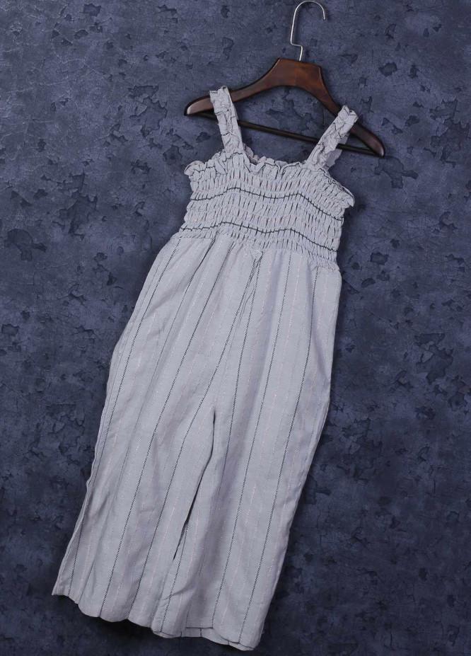 Sanaulla Exclusive Range Mix Cotton Fancy Girls Frocks -  6050 Grey