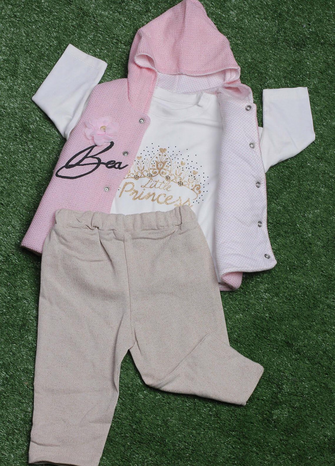 Sanaulla Exclusive Range Cotton Fancy 3 Piece Suit for Girls -  075K449 Pink