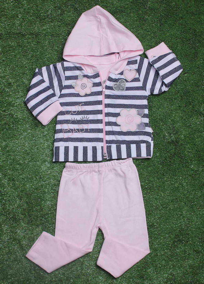 Sanaulla Exclusive Range Cotton Fancy Girls 3 Piece Suit -  19130 Pink