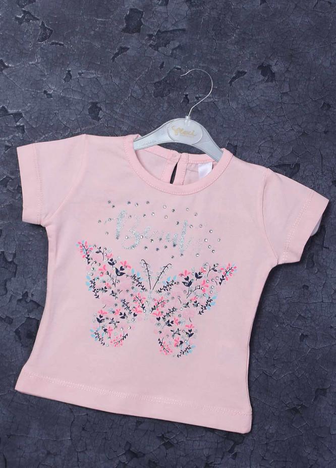 Sanaulla Exclusive Range Mix Cotton Printed Girls T-Shirts -  97253 Light Pink