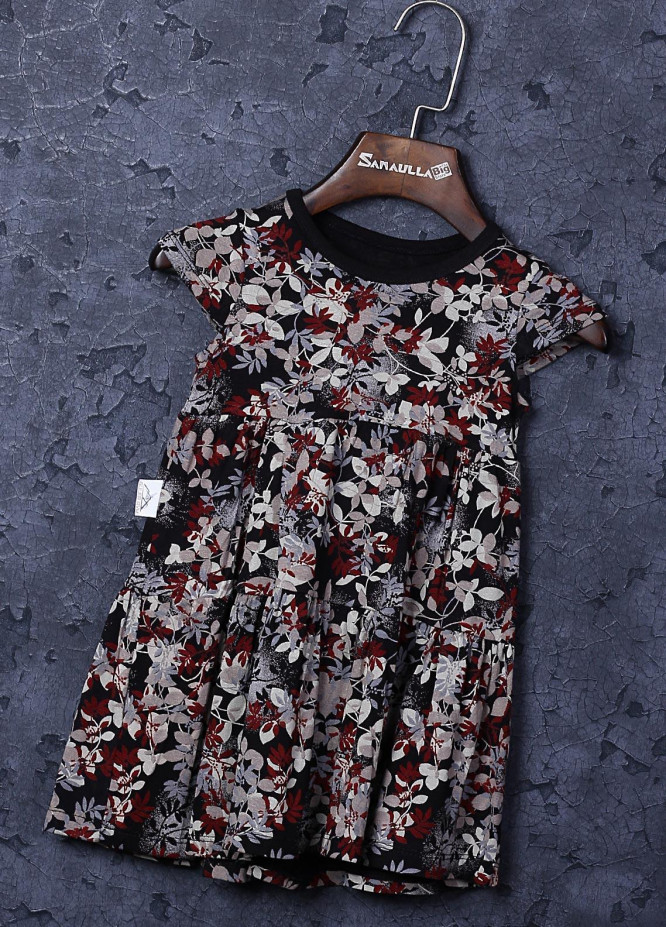 Sanaulla Exclusive Range Cotton Fancy Frocks for Girls -  22706 Multi-1