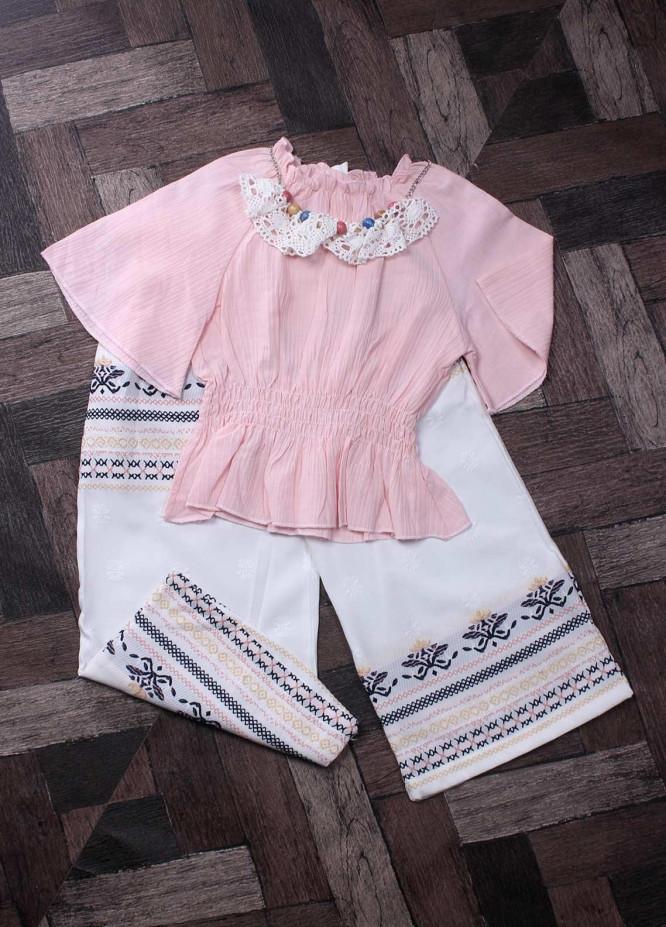 Sanaulla Exclusive Range Mix Cotton Fancy Suits for Girls -  6154 Pink