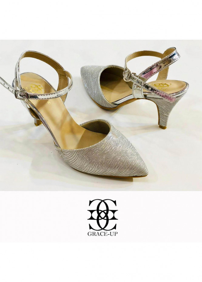 Grace Up Shoes Formal Style  Heel  0472 SILVER