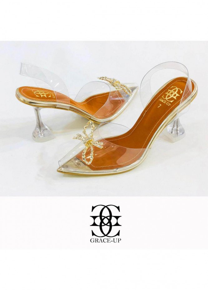 Grace Up Shoes Formal Style  Wedge Pencil Heel  0476 GOLDEN