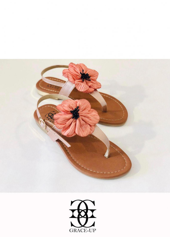 Grace Up Shoes Casual Style  Flats  659 PINK