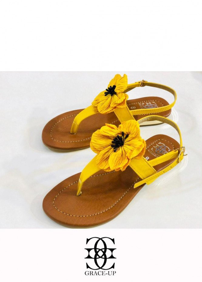 Grace Up Shoes Casual Style  Flats  659 YELLOW