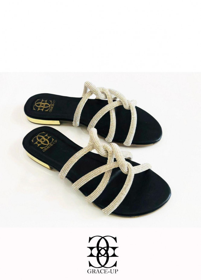 Grace Up Shoes Casual Style  Flats  723 BLACK