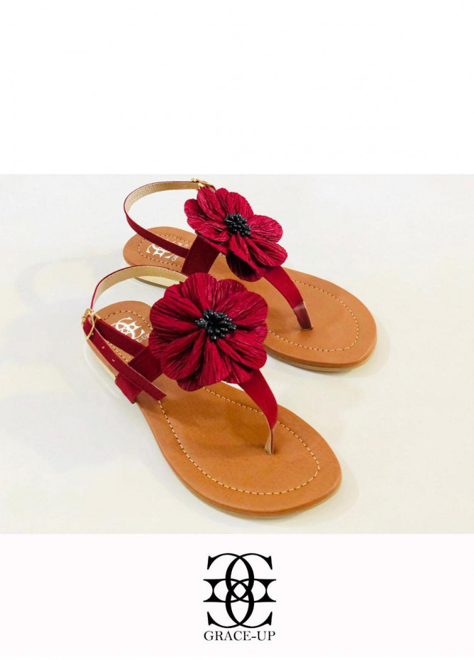 Grace Up Shoes Casual Style  Flats  659 MAROON
