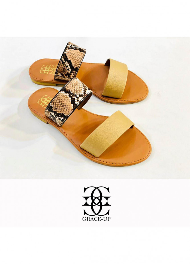 Grace Up Shoes Casual Style  Flat  0617 FAWN