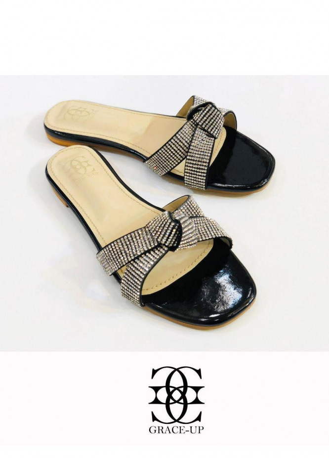 Grace Up Shoes Casual Style  Flat  0619 BLACK