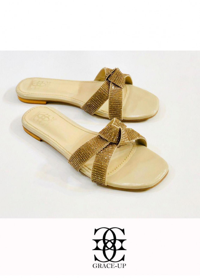 Grace Up Shoes Casual Style  Flat  0619 FAWN