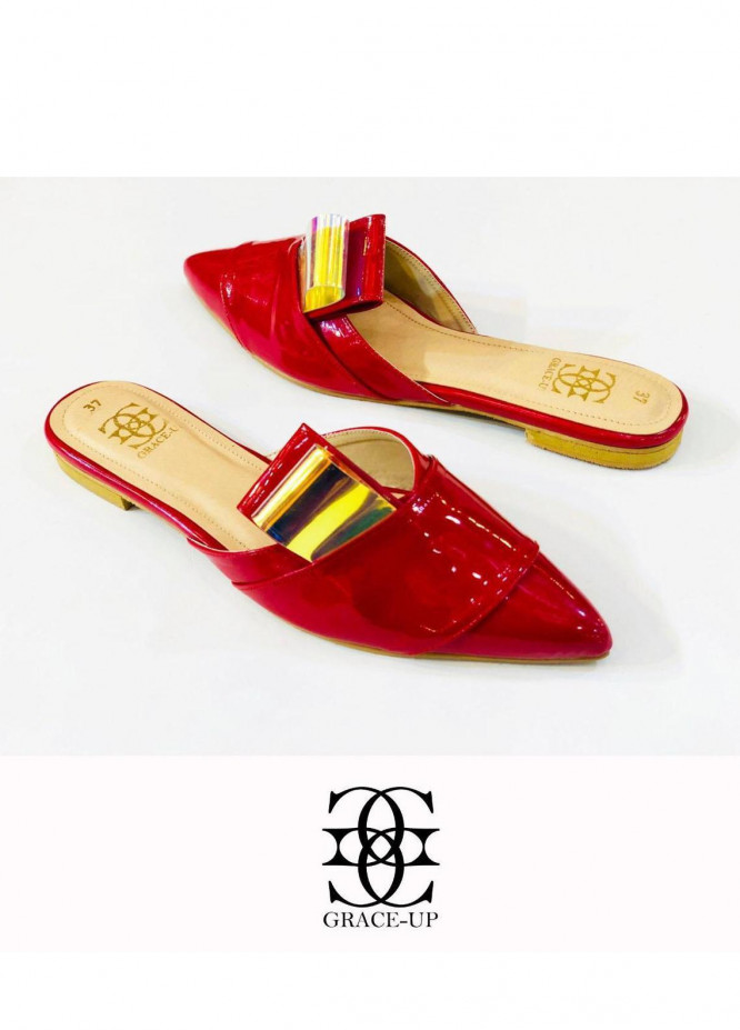 Grace Up Shoes Casual Style  Flat  0620 Red