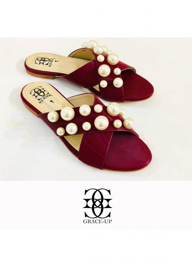 Grace Up Shoes Casual Style  Flat  0621 MAROON