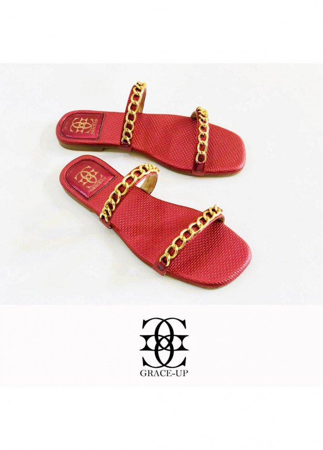 Grace Up Shoes Casual Style  Flat  0623 MAROON