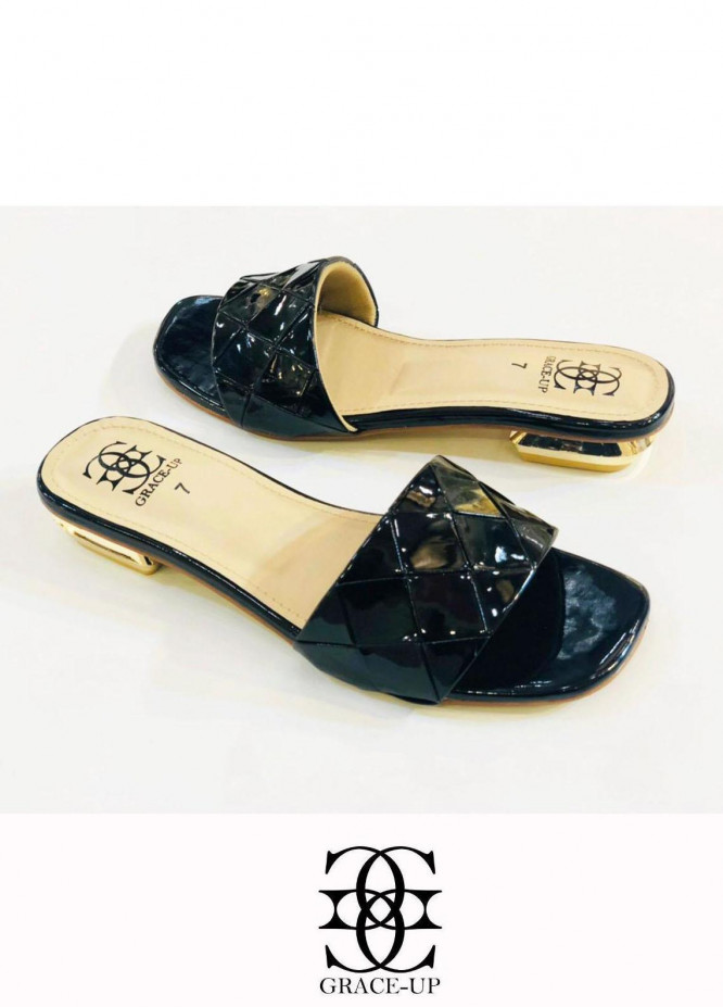 Grace Up Shoes Casual Style  Flat  0625 BLACK