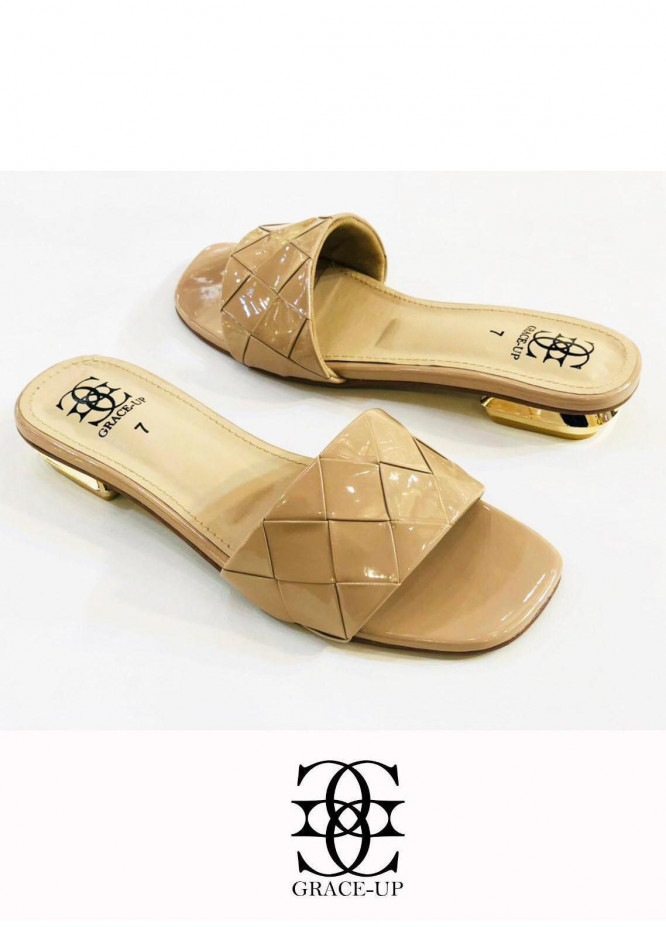 Grace Up Shoes Casual Style  Flat  0625 FAWN