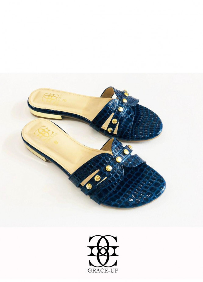 Grace Up Shoes Casual Style  Flats  612 BLUE