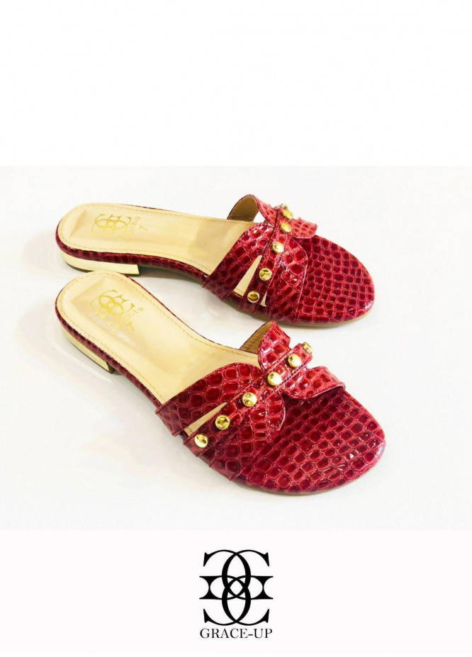 Grace Up Shoes Casual Style  Flats  612 MAROON