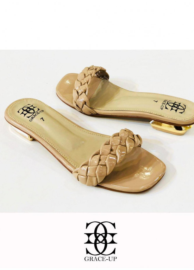 Grace Up Shoes Casual Style Flat 624 FAWN