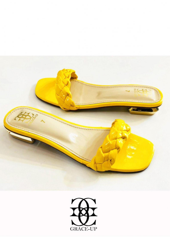 Grace Up Shoes Casual Style  Flats  624 YELLOW