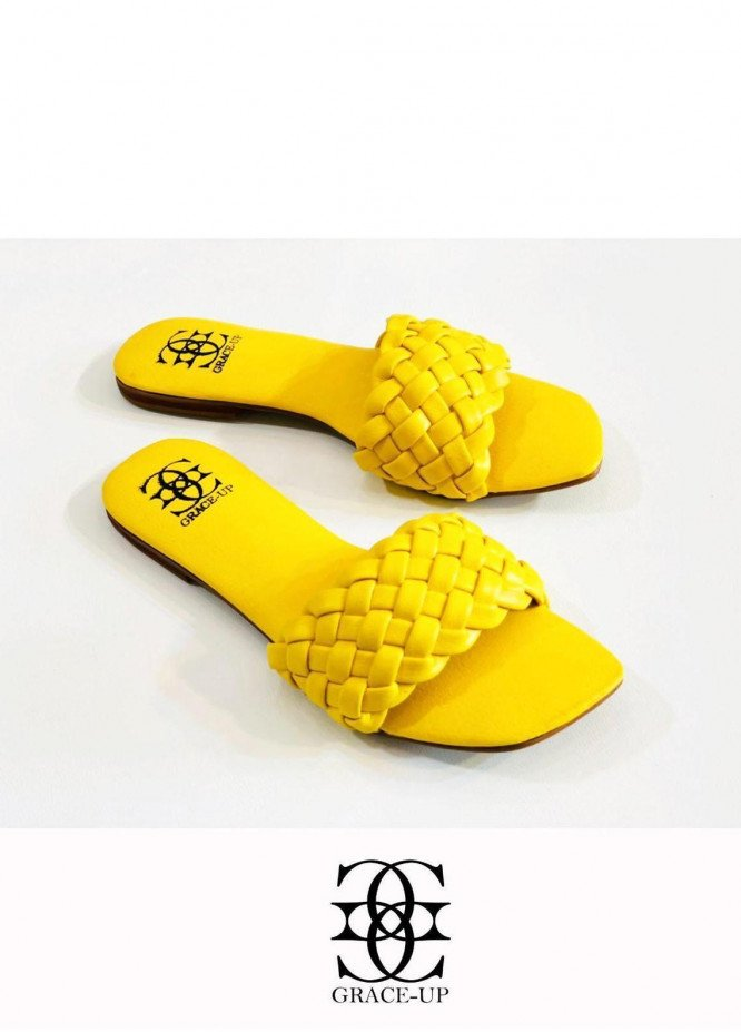 Grace Up Shoes Casual Style  Flat  626 Yellow