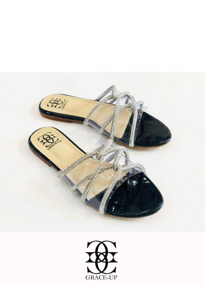 Grace Up Shoes Casual Style  Flats  627 BLACK