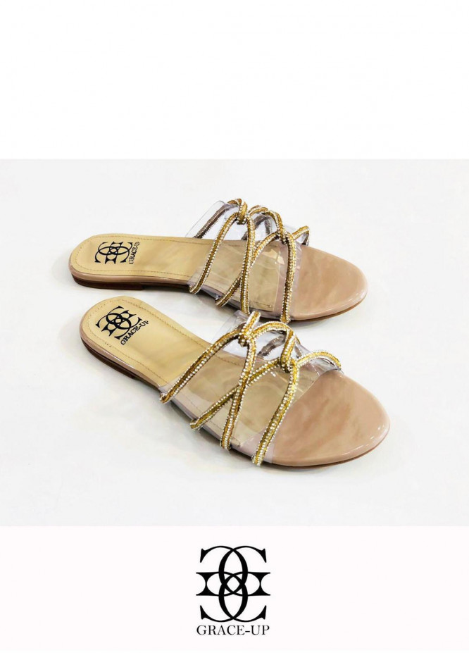 Grace Up Shoes Casual Style  Flats  627 GOLDEN
