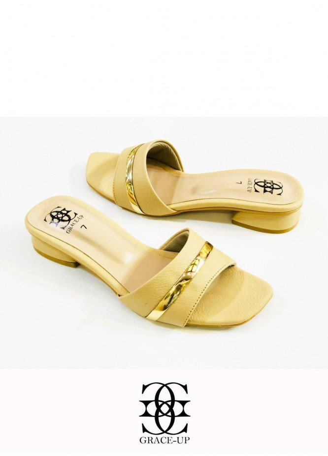 Grace Up Shoes Casual Style  Flat  629 Fawn
