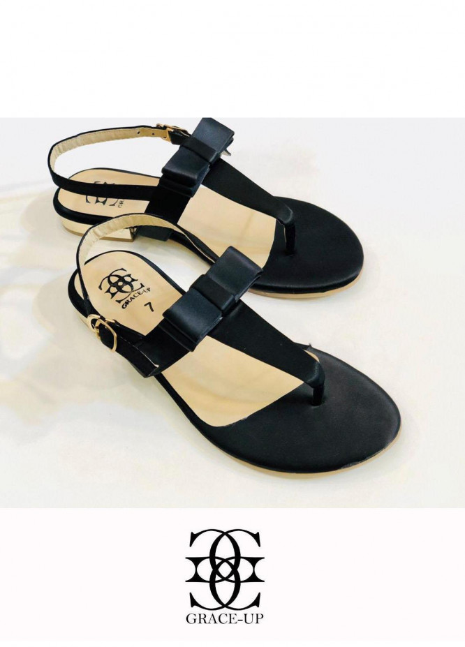 Grace Up Shoes Casual Style  Flat  661 BLACK