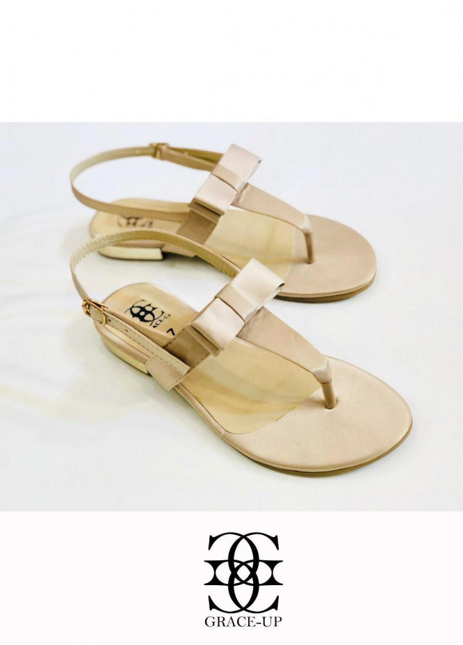 Grace Up Shoes Casual Style  Flat  661 FAWN