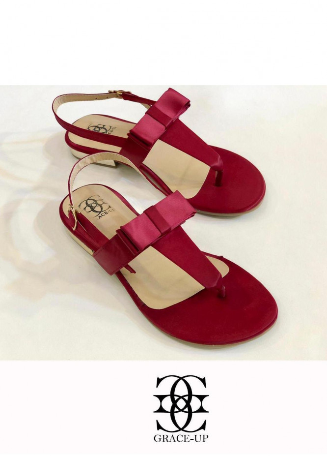 Grace Up Shoes Casual Style  Flat  661 MAROON