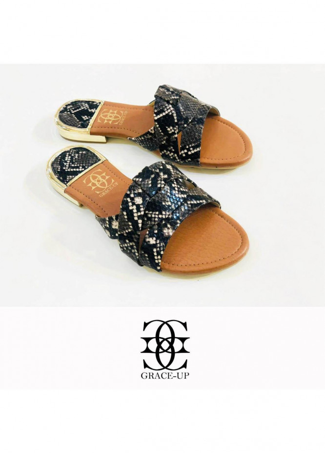 Grace Up Shoes Casual Style  Flat  689 BLACK