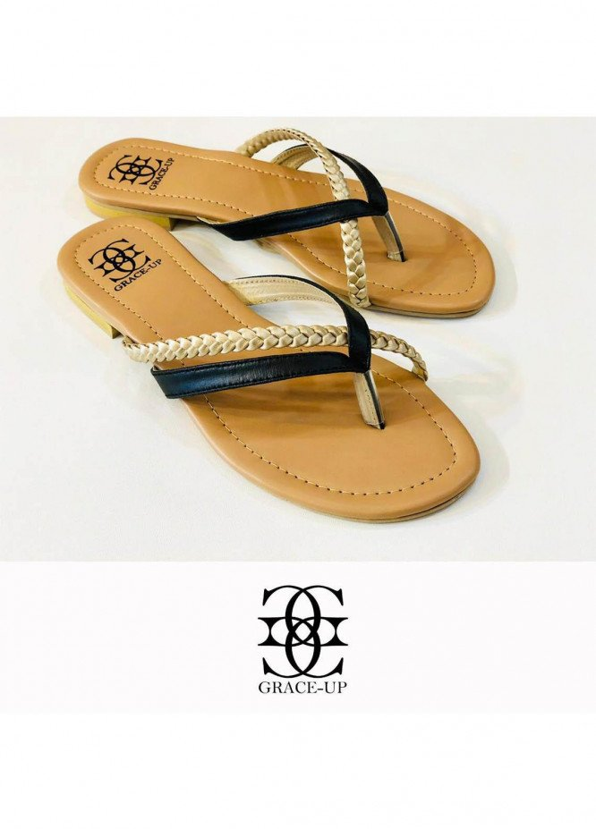 Grace Up Shoes Casual Style  Flat  699 BLACK