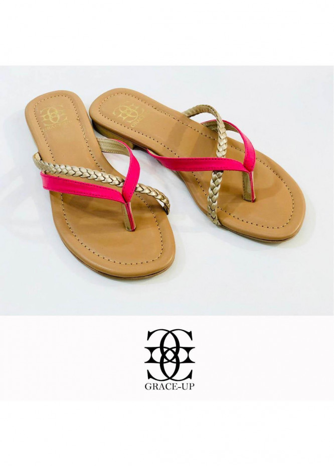 Grace Up Shoes Casual Style  Flat  699 PINK