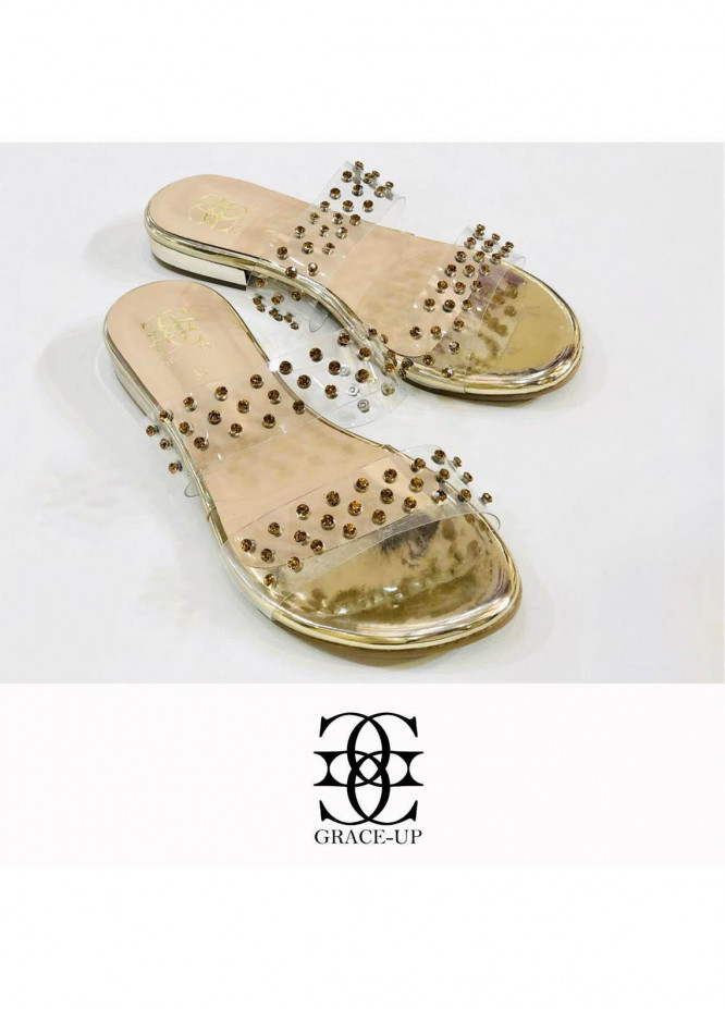 Grace Up Shoes Casual Style  Flat  711 GOLDEN