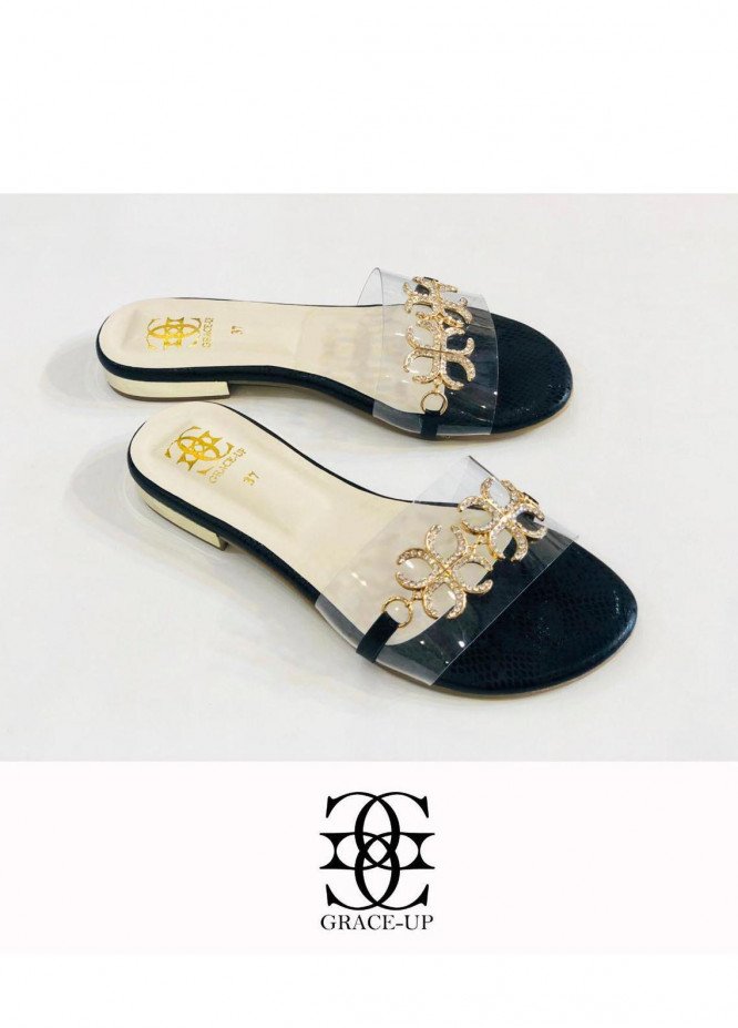 Grace Up Shoes Casual Style  Flat  712 Black