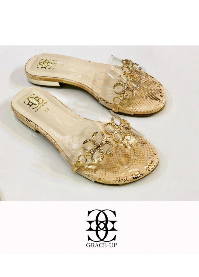 Grace Up Shoes Casual Style  Flat  712 Fawn