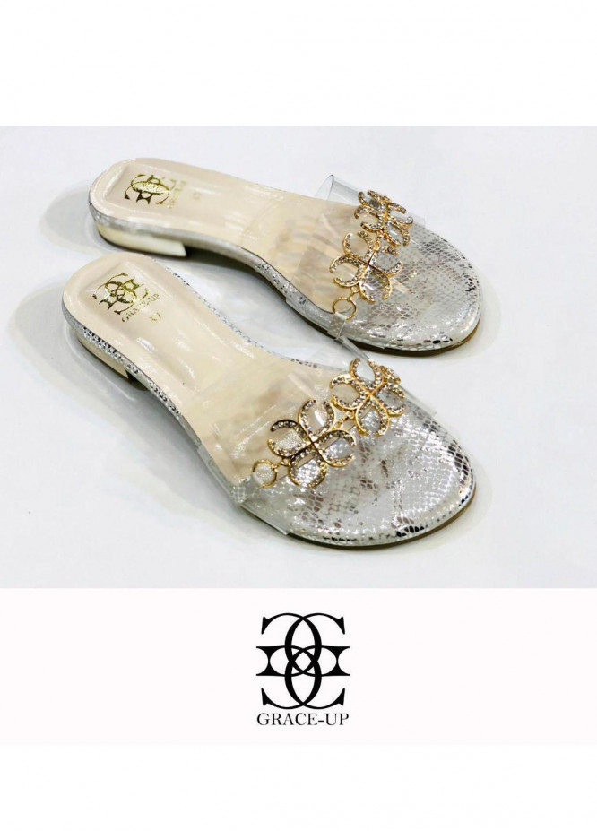 Grace Up Shoes Casual Style  Flat  712 White