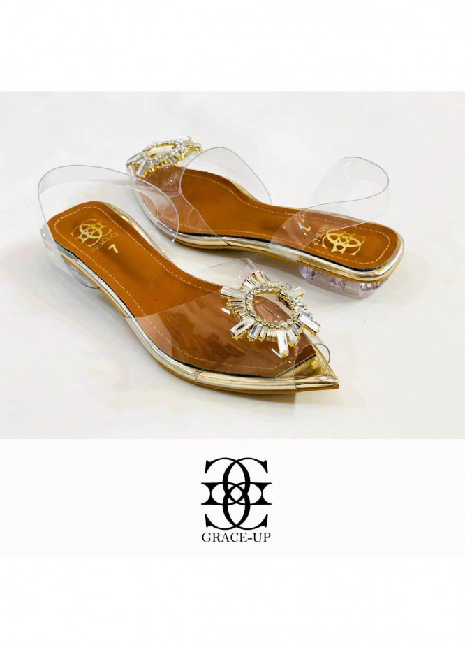Grace Up Shoes Casual Style Flat 713 GOLDEN